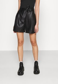 Miss Selfridge - TIE WAIST - Shorts - black