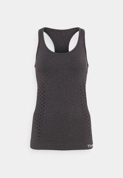 Hummel - SEAMLESS - Funktionsshirt - black melange