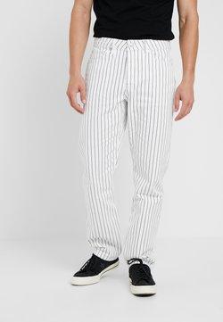 Topman - STRIPE ORIGINAL - Relaxed fit jeans - white/dark blue