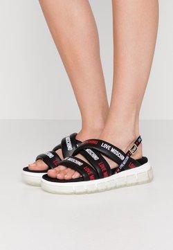 Love Moschino - Korkeakorkoiset sandaalit - nero