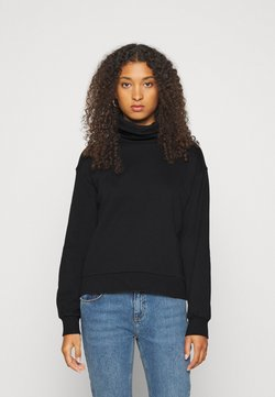 Vero Moda - VMMERCY ROLL NECK - Sweatshirt - black