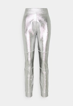 KARL LAGERFELD - COATED PANTS - Jogginghose - silver