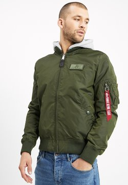 Alpha Industries - HOOD - Giubbotto Bomber - dark green