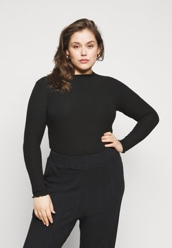 ONLY Carmakoma - CARALLY HIGH NECK - Langarmshirt - black