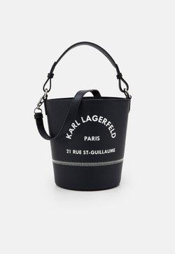 KARL LAGERFELD - RUE GUILLAUME BUCKET - Handtasche - black