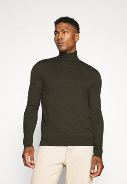 Jack & Jones - JJEEMIL ROLL NECK - Strickpullover - olive night melange