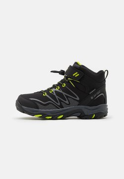 Hi-Tec - BLACKOUT MID WP JR - Outdoorschoenen - black/lime