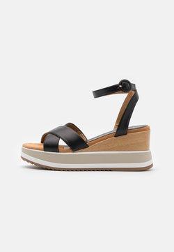 Unisa - KADIO - Platform sandals - black