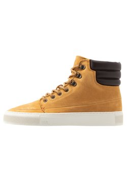 HUB - EASTBOURNE - Sneakers hoog - honey brown/offwhite