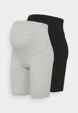 ONLY - OLMLOVELY 2 PACK - Szorty - black/light grey