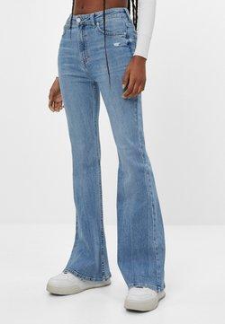 Bershka - Jean bootcut - blue denim
