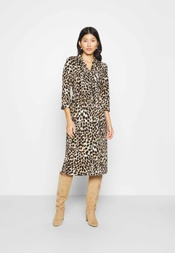 Wallis - ANIMAL SHIRT DRESS - Freizeitkleid - neutral