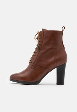 Caprice - BOOTS - High heeled ankle boots - cognac
