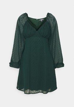 Missguided Tall - MILKMAID SKATER DRESS DOBBY - Freizeitkleid - dark green