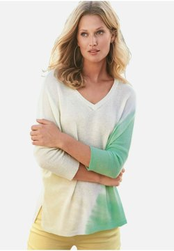 Include - Strickpullover - pastellgelb/mint
