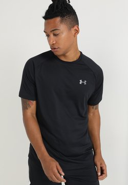 Under Armour - HEATGEAR TECH  - T-shirt print - black/graphite
