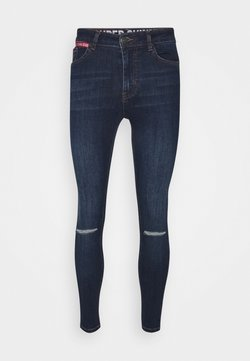 11 DEGREES - SLASHED KNEE  - Jeans Skinny Fit - indigo wash