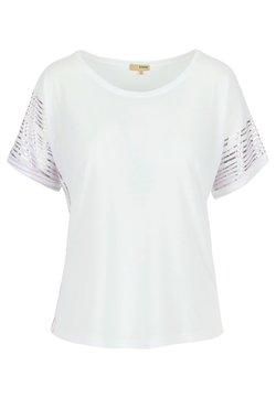 A ka so - SHASHA BANGL - T-Shirt print - white lilac
