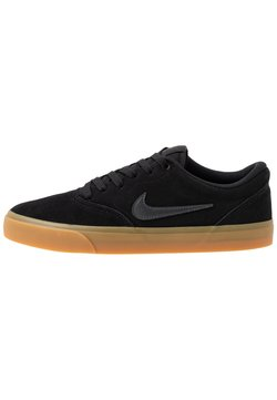 Nike SB - CHARGE - Skateschuh - black/anthracite/light brown