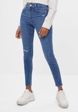 Bershka - MIT HOHEM BUND  - Jeans Skinny Fit - blue