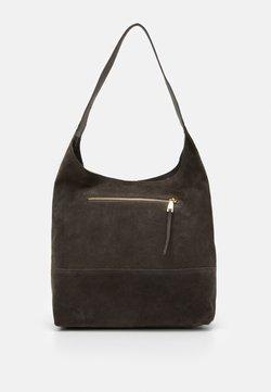 Zign - LEATHER - Handtasche - anthracite