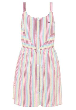 Tommy Hilfiger - STRIPE DRESS  - Freizeitkleid - white