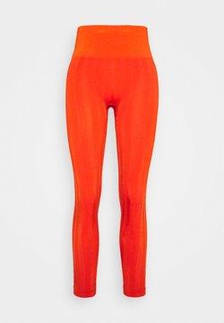 Casall - SHINY MATTE SEAMLESS - Tights - intense orange