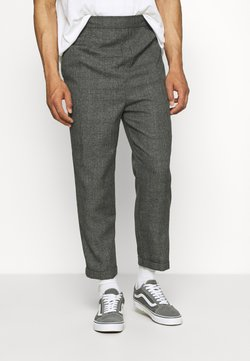 Vintage Supply - CASUAL CHECK TROUSER - Stoffhose - black