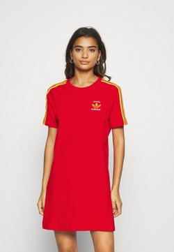 adidas Originals - STRIPES SPORTS INSPIRED REGULAR DRESS - Robe en jersey - red