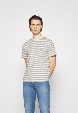 Carhartt WIP - SCOTTY POCKET - T-Shirt print - white heather/grey heather