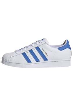 adidas Originals - SUPERSTAR UNISEX - Sneakers - ftwr white/true blue/gold met.