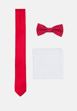 Jack & Jones - JACSTRIPY NECKTIE SET - Krawatte - red bud