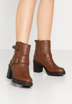 Anna Field Wide Fit - Platform ankle boots - brown