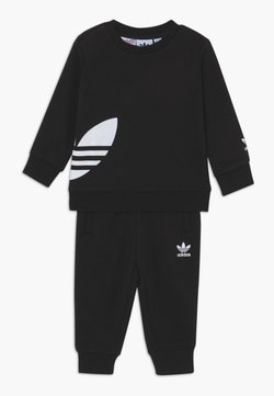 adidas Originals - BIG TREFOILCREW SET - Trainingspak - black/white