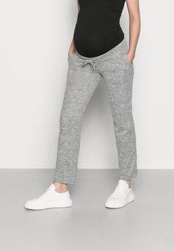 MAMALICIOUS - MLNEWJANNI LOUNGE PANTS - Jogginghose - light grey melange
