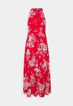 VILA PETITE - VITAGETES HALTERNECK ANKLE DRESS PETITE - Maxikleid - mars red