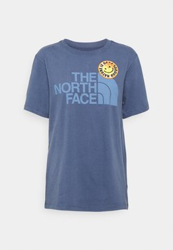 The North Face - PATCHES TEE  - Print T-shirt - vintage indigo