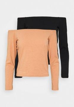 Even&Odd - T-shirt à manches longues - camel/black