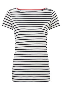Boden - BRETON - T-Shirt print - naturweiß/navy