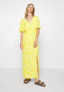YAS - YASANASTASIA ANKLE DRESS - Maxikjoler - mellow yellow