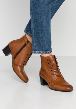 Anna Field Wide Fit - LEATHER BOOTIES  - Nilkkurit - cognac
