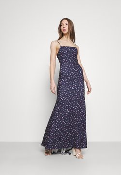Missguided - FLORAL CAMI FISHTAIL BRIDESMAID DRESS - Jerseykleid - navy