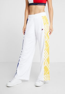 Tommy Sport - GRAPHIC CULOTTE PANTS - Jogginghose - white