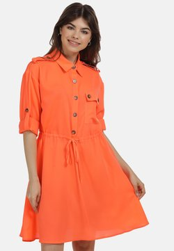 myMo - Vestido camisero - neon orange