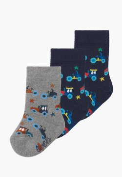 Ewers - CARS 3 PACK - Calcetines - navy/grau