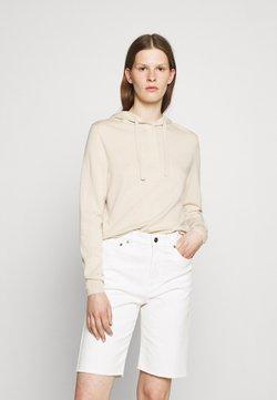 Filippa K - CHIARA HOODIE - Stickad tröja - soft beige