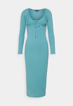 Missguided - DRAWSTRING TIE BUST MIDAXI DRESS - Vestido ligero - blue