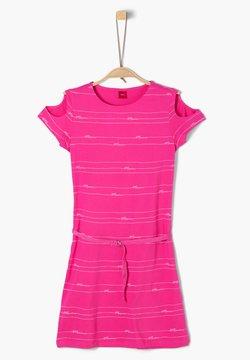 s.Oliver - Jerseykleid - pink stripes aop