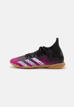 adidas Performance - PREDATOR FREAK .3 IN UNISEX - Botas de fútbol sin tacos - core black/footwear white/shock pink