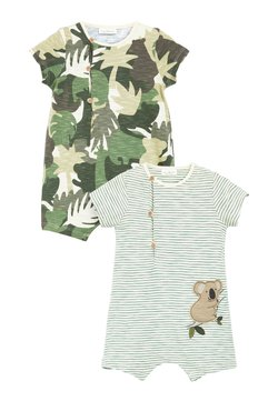 Next - 2 PACK ROMPERS WITH HAT - Combinaison - green